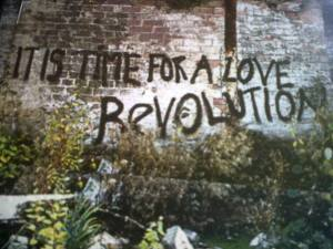 "Inside cover of Lenny Kravitz' album ""It Is Time For A Love Revolution"""