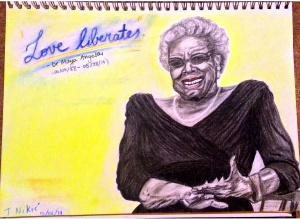 Dr Maya Angelou Charcoal, graphite and pastel on paper